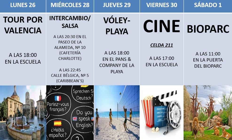 Actividades de Hispania, escuela de español